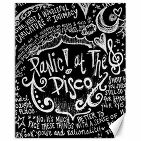 Panic ! At The Disco Lyric Quotes Canvas 16  x 20