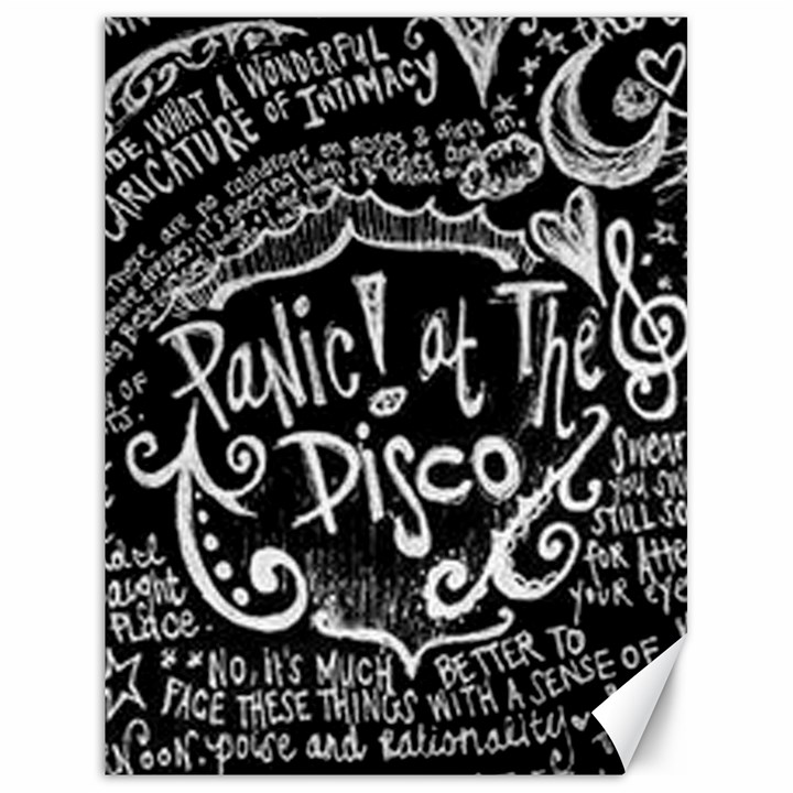 Panic ! At The Disco Lyric Quotes Canvas 18  x 24