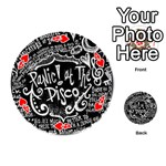 Panic ! At The Disco Lyric Quotes Playing Cards 54 (Round)  Front - Heart4