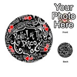 Panic ! At The Disco Lyric Quotes Playing Cards 54 (Round)  Front - Heart9
