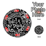 Panic ! At The Disco Lyric Quotes Playing Cards 54 (Round)  Front - Heart10