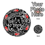 Panic ! At The Disco Lyric Quotes Playing Cards 54 (Round)  Front - HeartQ