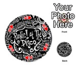 Panic ! At The Disco Lyric Quotes Playing Cards 54 (Round)  Front - HeartK