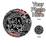 Panic ! At The Disco Lyric Quotes Playing Cards 54 (Round)  Front - Joker2