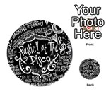 Panic ! At The Disco Lyric Quotes Playing Cards 54 (Round)  Back