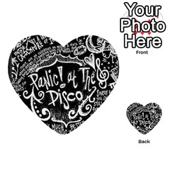 Panic ! At The Disco Lyric Quotes Playing Cards 54 (Heart)