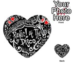 Panic ! At The Disco Lyric Quotes Playing Cards 54 (Heart)  Front - Heart4