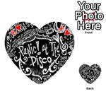 Panic ! At The Disco Lyric Quotes Playing Cards 54 (Heart)  Front - HeartK