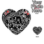 Panic ! At The Disco Lyric Quotes Playing Cards 54 (Heart)  Front - DiamondJ