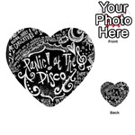 Panic ! At The Disco Lyric Quotes Playing Cards 54 (Heart)  Back