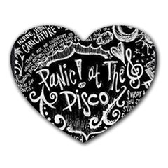 Panic ! At The Disco Lyric Quotes Heart Mousepads
