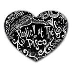 Panic ! At The Disco Lyric Quotes Heart Mousepads Front