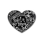 Panic ! At The Disco Lyric Quotes Rubber Coaster (Heart)  Front