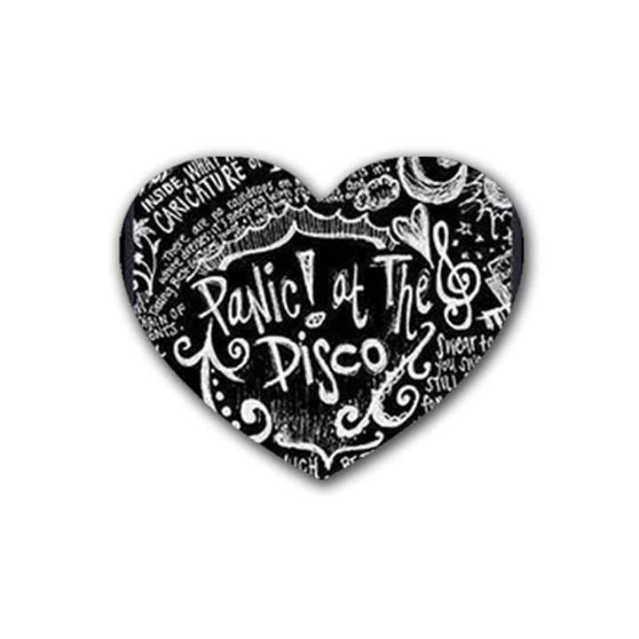 Panic ! At The Disco Lyric Quotes Rubber Coaster (Heart)