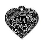 Panic ! At The Disco Lyric Quotes Dog Tag Heart (Two Sides) Back