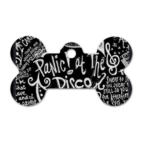 Panic ! At The Disco Lyric Quotes Dog Tag Bone (One Side)