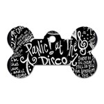 Panic ! At The Disco Lyric Quotes Dog Tag Bone (Two Sides) Front