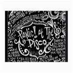 Panic ! At The Disco Lyric Quotes Small Glasses Cloth (2-Side) Front