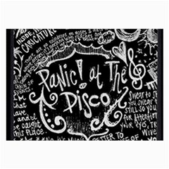 Panic ! At The Disco Lyric Quotes Large Glasses Cloth (2 Side)