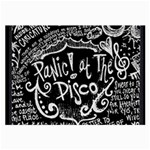 Panic ! At The Disco Lyric Quotes Large Glasses Cloth (2-Side) Back