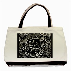 Panic ! At The Disco Lyric Quotes Basic Tote Bag (Two Sides)
