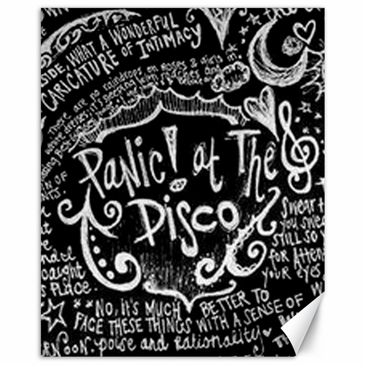 Panic ! At The Disco Lyric Quotes Canvas 11  x 14