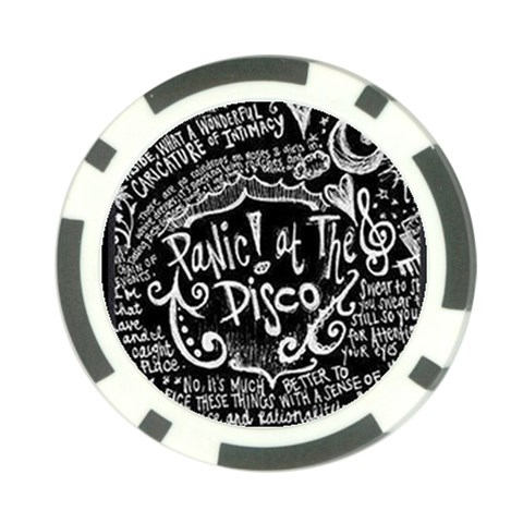 Panic ! At The Disco Lyric Quotes Poker Chip Card Guards