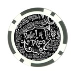Panic ! At The Disco Lyric Quotes Poker Chip Card Guards Back