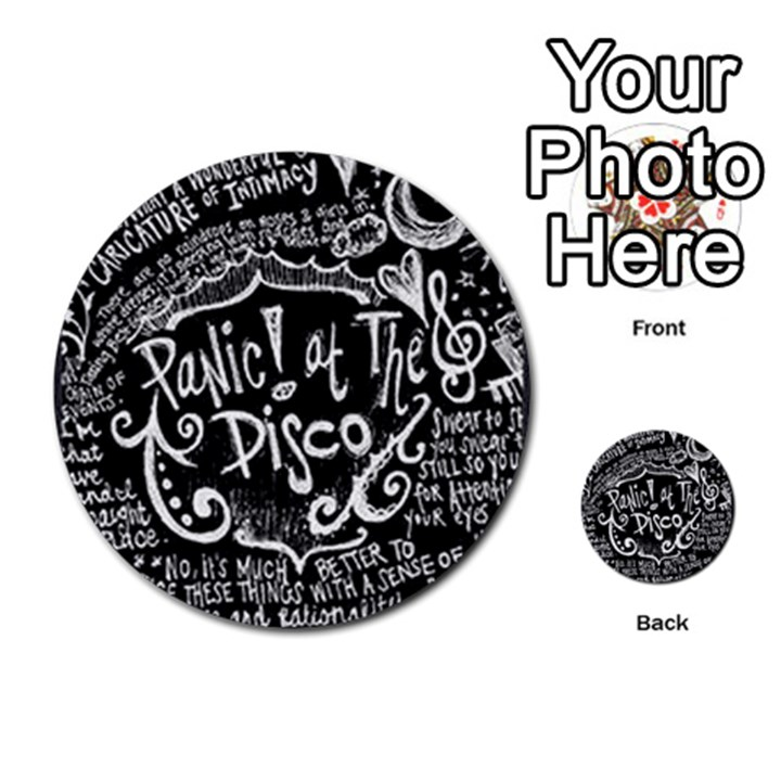 Panic ! At The Disco Lyric Quotes Multi-purpose Cards (Round)
