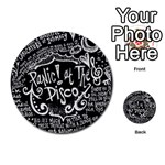 Panic ! At The Disco Lyric Quotes Multi-purpose Cards (Round)  Back 8