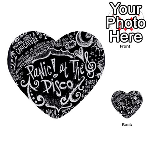Panic ! At The Disco Lyric Quotes Multi-purpose Cards (Heart)