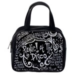Panic ! At The Disco Lyric Quotes Classic Handbags (One Side) Front