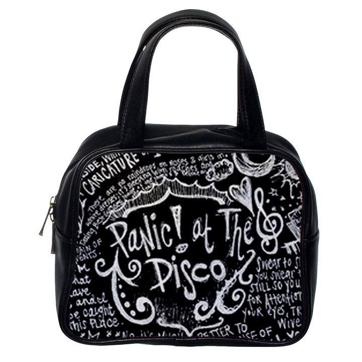 Panic ! At The Disco Lyric Quotes Classic Handbags (One Side)