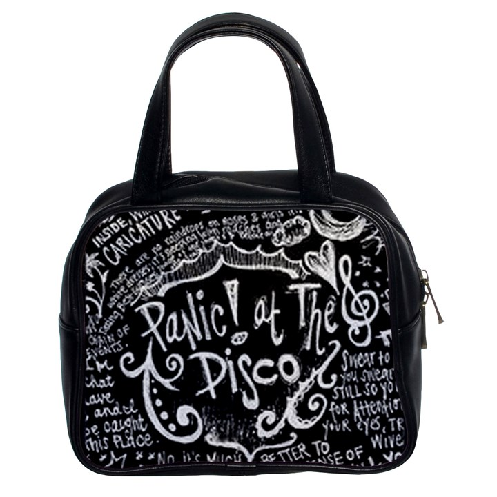 Panic ! At The Disco Lyric Quotes Classic Handbags (2 Sides)