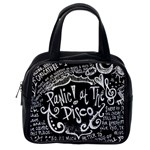 Panic ! At The Disco Lyric Quotes Classic Handbags (2 Sides) Back