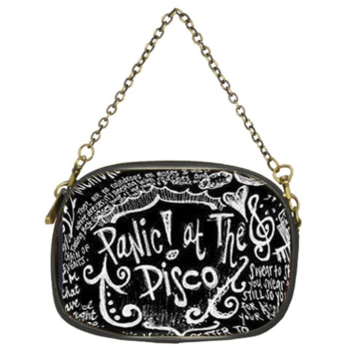 Panic ! At The Disco Lyric Quotes Chain Purses (One Side)