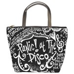 Panic ! At The Disco Lyric Quotes Bucket Bags Front
