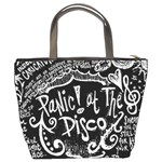 Panic ! At The Disco Lyric Quotes Bucket Bags Back