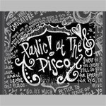 Panic ! At The Disco Lyric Quotes Mini Canvas 7  x 5  7  x 5  x 0.875  Stretched Canvas
