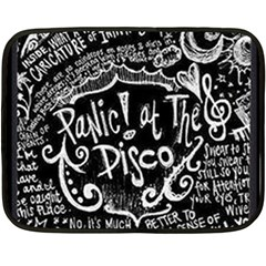 Panic ! At The Disco Lyric Quotes Double Sided Fleece Blanket (Mini)