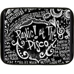 Panic ! At The Disco Lyric Quotes Double Sided Fleece Blanket (Mini)  35 x27 Blanket Back