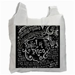 Panic ! At The Disco Lyric Quotes Recycle Bag (One Side) Front