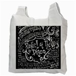 Panic ! At The Disco Lyric Quotes Recycle Bag (Two Side)  Back