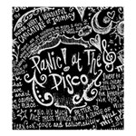Panic ! At The Disco Lyric Quotes Shower Curtain 66  x 72  (Large)  58.75 x64.8 Curtain
