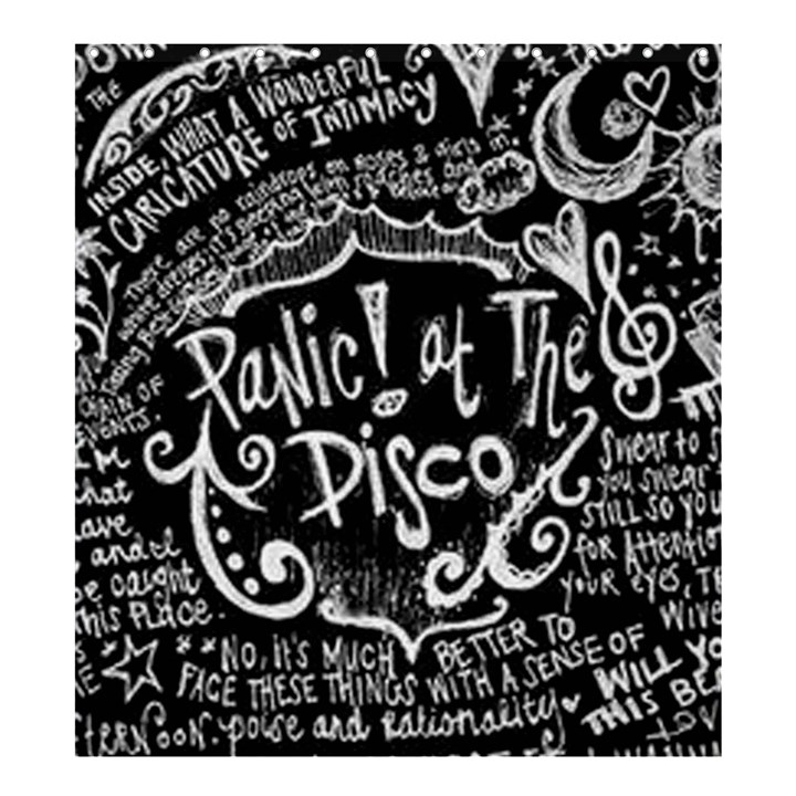 Panic ! At The Disco Lyric Quotes Shower Curtain 66  x 72  (Large)