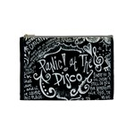 Panic ! At The Disco Lyric Quotes Cosmetic Bag (Medium)  Front