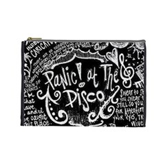 Panic ! At The Disco Lyric Quotes Cosmetic Bag (Large)