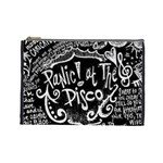 Panic ! At The Disco Lyric Quotes Cosmetic Bag (Large)  Front