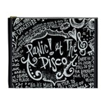 Panic ! At The Disco Lyric Quotes Cosmetic Bag (XL) Front