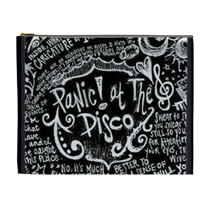 Panic ! At The Disco Lyric Quotes Cosmetic Bag (XL)